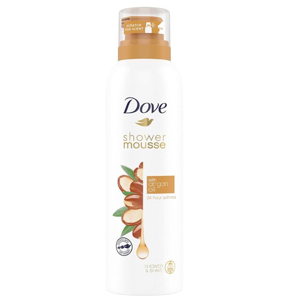 Dove Aerosol Shower Mousse 200 ml With Argan Oil