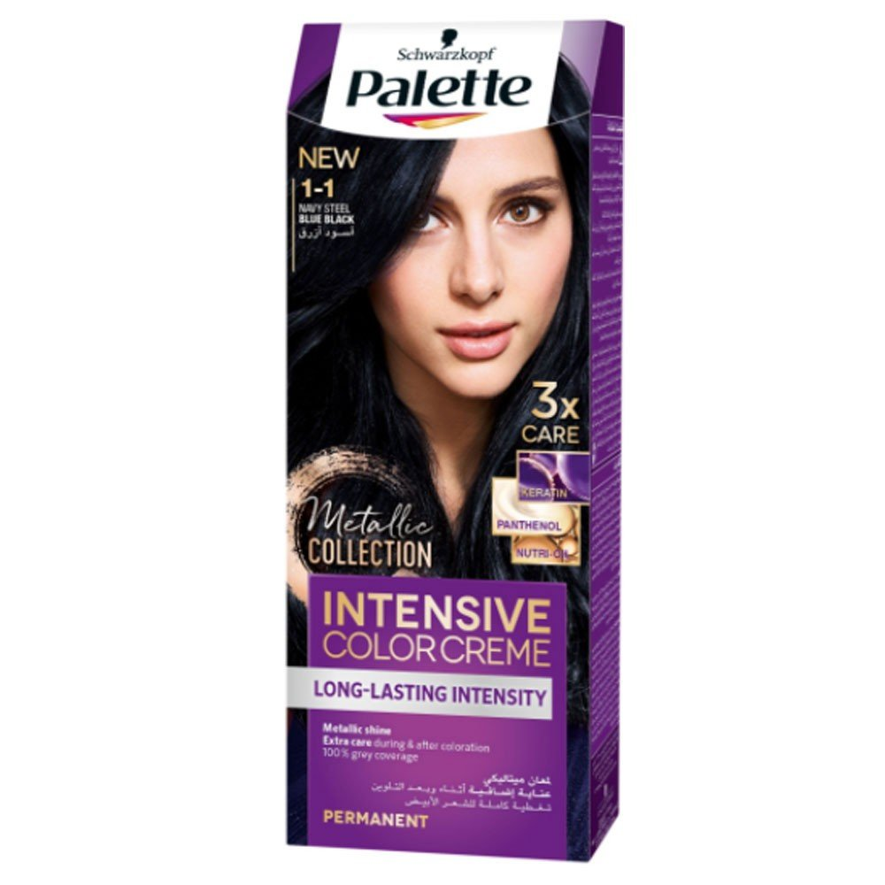 Palette Intensive Color Creme, 1-1 Blue Black