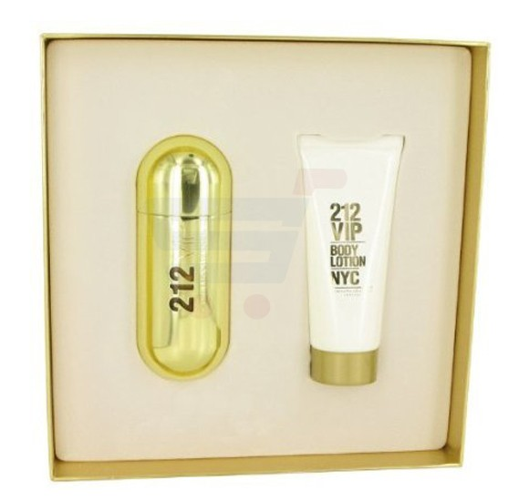 Carolina Herrera 2 Piece 212 VIP Lady Perfume EDP Set EDP Spray 80ml and Body Lotion 200ml