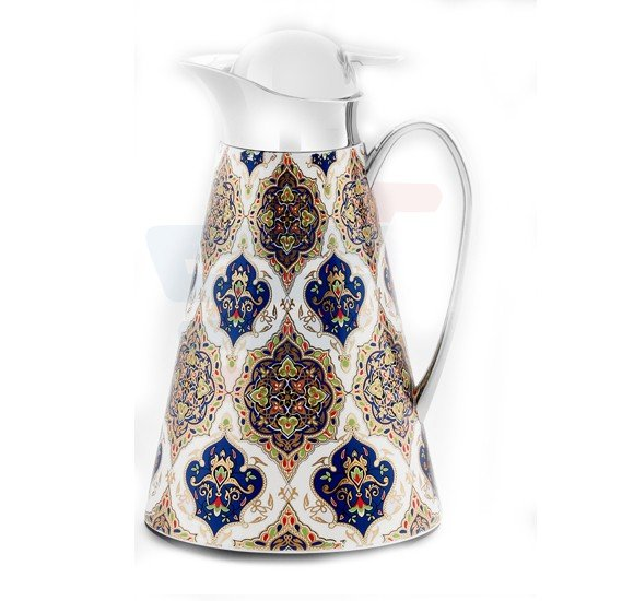 RoyalFord Stainless Steel Rumi Persian Vacuum Flask 1LTR - RF8579