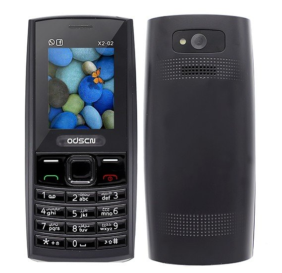 ODSCN X2-02 Mobile, 1.77 Inch Display, Dual SIM, Camera - Black