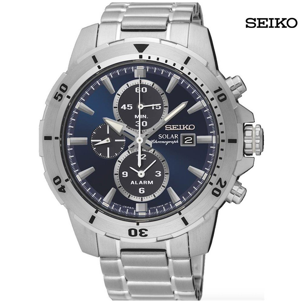 Seiko Men Chronograph Solid Case Stainless Steel Watch, SSC555P1