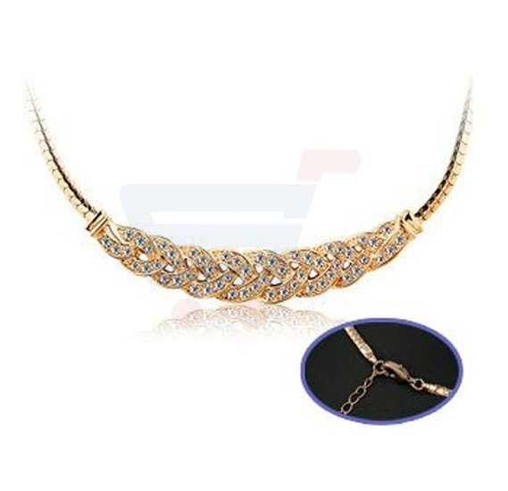 18K White Gold Plated Fresh Water Pearl Necklace For Women - JN0104A
