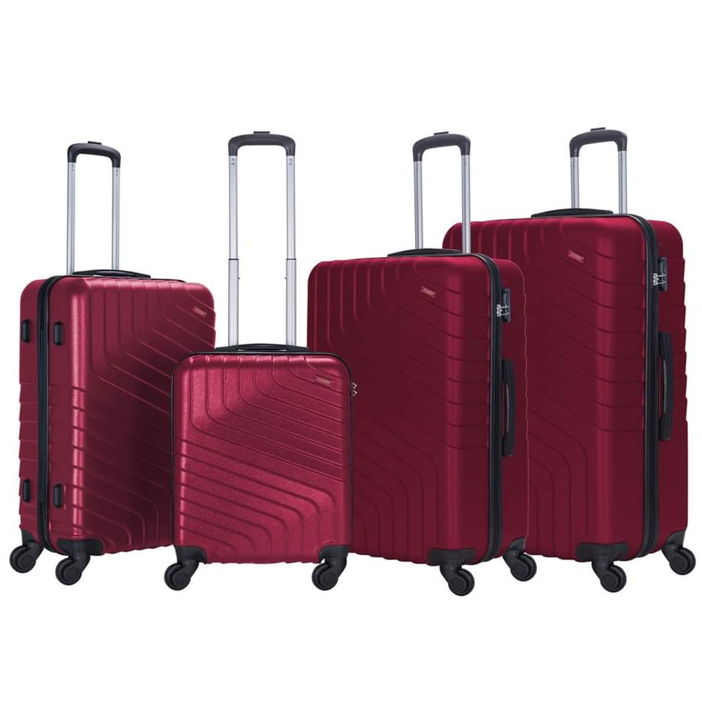 Stargold 4 PCS 20 inch, 24 inch, 28 inch and 32 inch ABS Trolley, SG-T95D, Burgundy