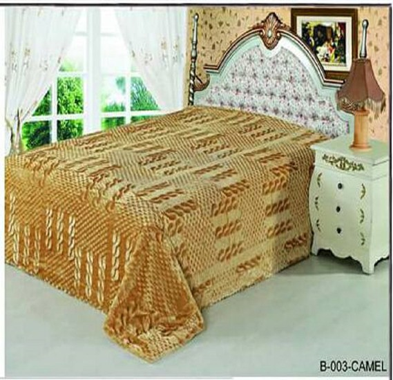 Senoures Classic Blanket Single 160X220CM - B-003 Camel