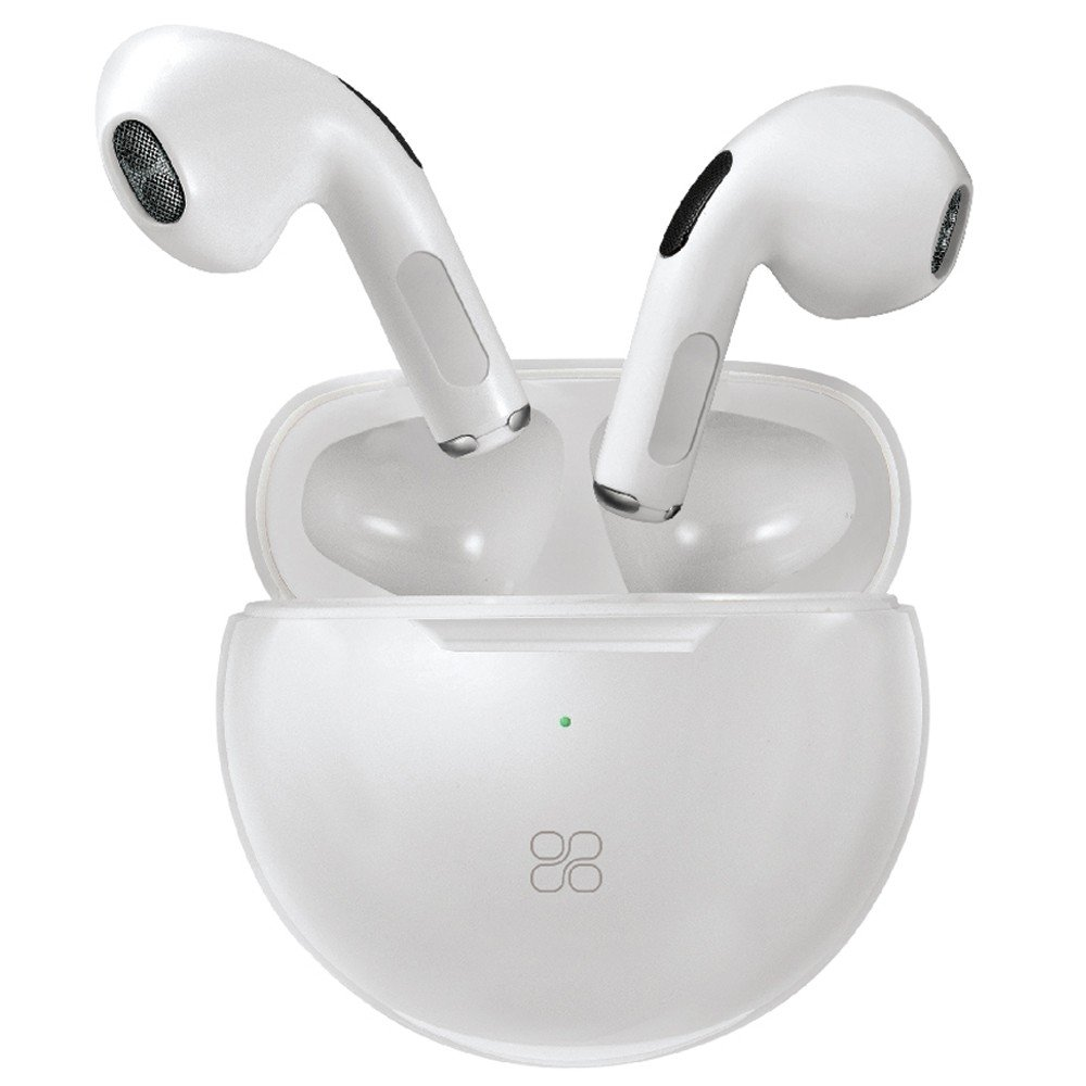 Promate True Wireless Earbuds, Premium In-Ear Bluetooth v5.0 Headphones with Charging Case, Charisma-2 White