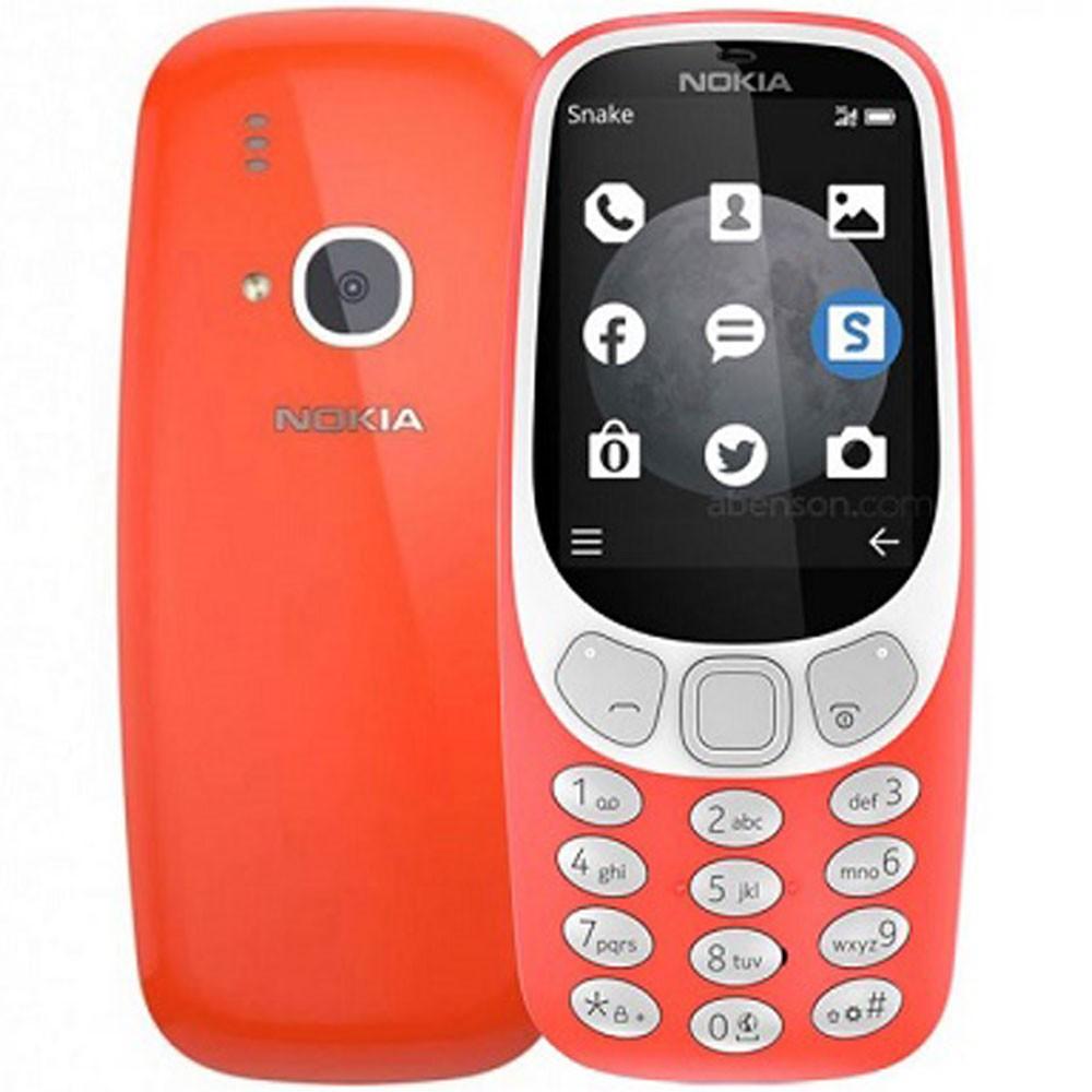 Nokia 3310 Red Mobile, 2.4 Inch TFT Display, Dual Sim, Camera, Radio