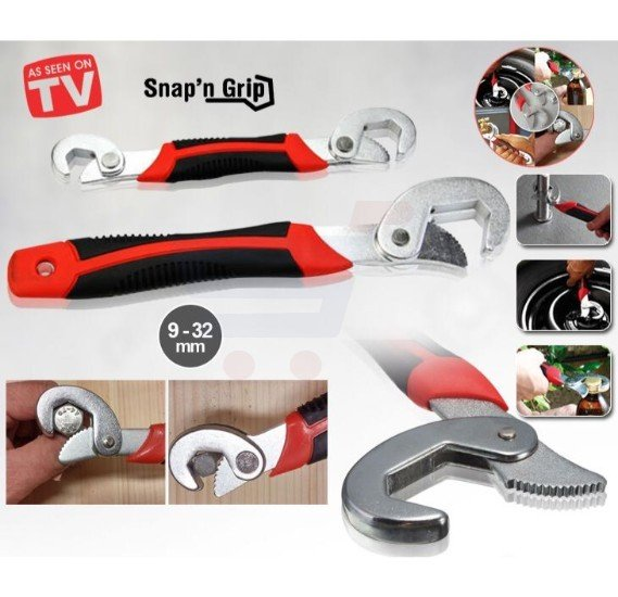 T&F Snap N Grip Wrench Red