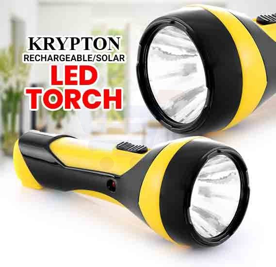 Krypton Rechargeable Solar LED Torch KNFL5008