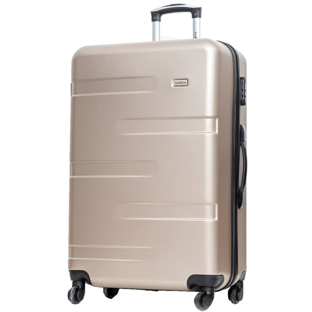 Traveller TR-1017 ABS With Pu Lining 4 Wheel Trolley 24 Inch Gold