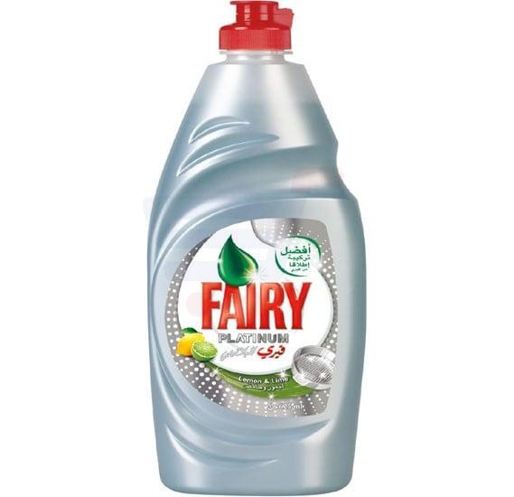 Fairy Platinum Lemon & Lime Dish Washing Liquid Soap 625ml