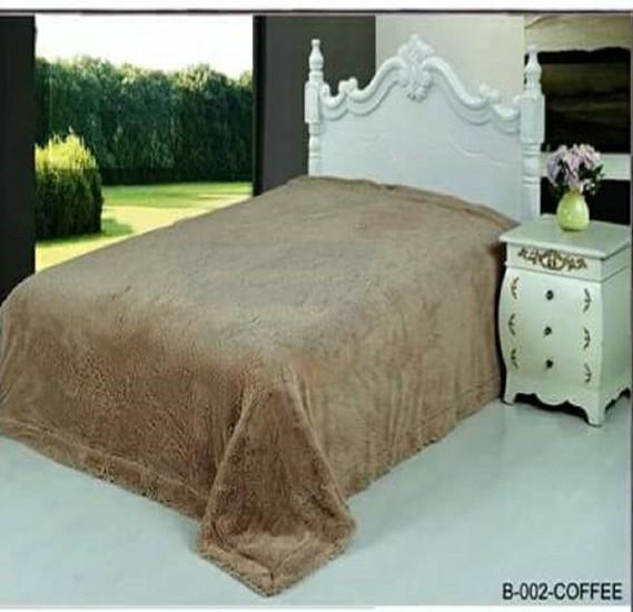 Senoures Classic Blanket Double 220X240CM - B-002 Coffee