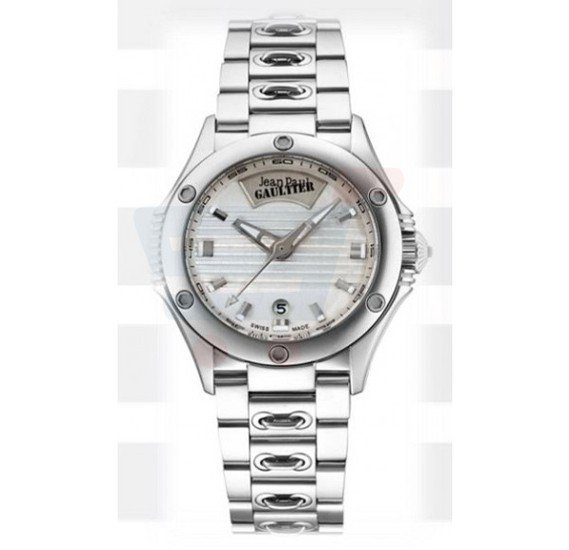 Jean Paul Gaultier Swiss Made Men Silver & khaki Watch - JPG0101009