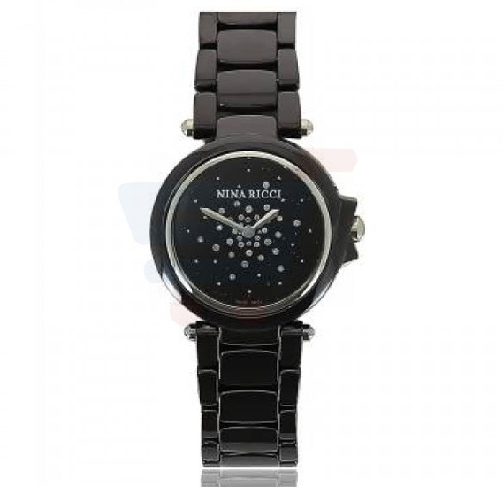 Nina Ricci Analog Black Dial Stainless Steel Ladies Watch - N068006SM