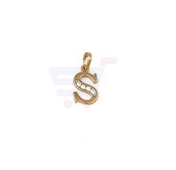 Xuping Necklace Pendant Gold Plated Letter  S