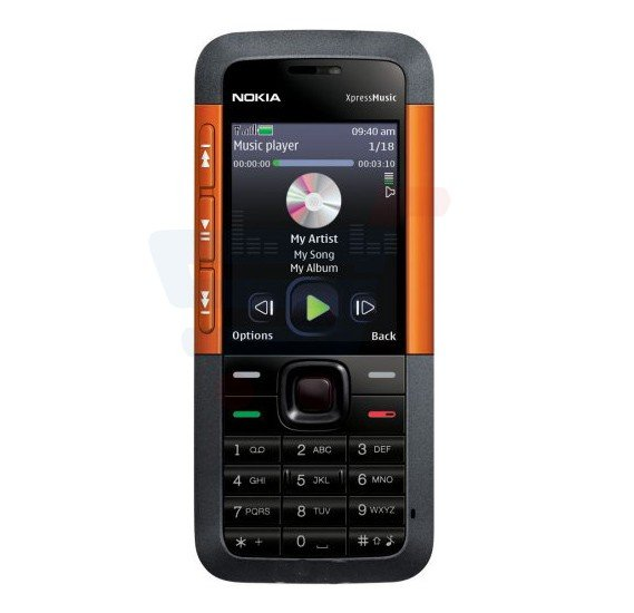 Nokia 5310 Xpress Music Mobile Phone, 2.1 Inch Display, 30MB Storage, FM Radio, Bluetooth, Camera - Orange