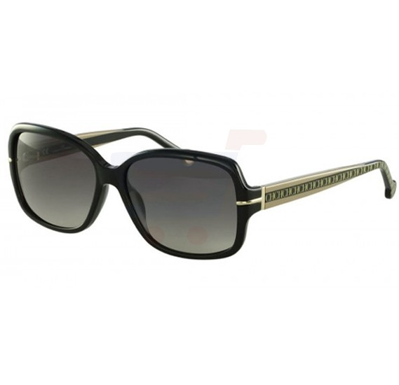 Carolina Herrera Wayfarer Black Frame & Black Gradient Mirrored Sunglasses For Women - SHE574-0700