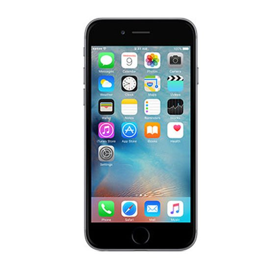 Apple Iphone 6s  Smartphone With Fingerprint, iOS9 ,4.7 inch Retina HD Display,64 GB Storage, Dual Camera,Wifi,Bluetooth - Grey