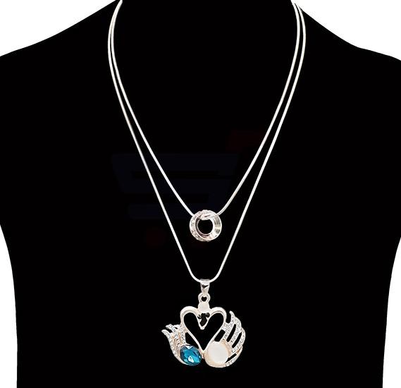 Fashion Jewelry diamond love design Necklace NO.FJ-412