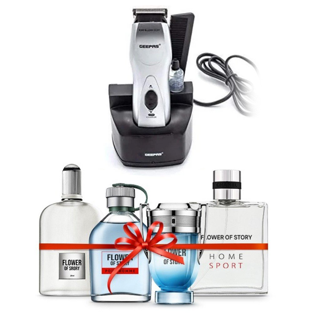 Combo Pack, Geepas Rechargeable Trimmer and Flower of Story Gift set