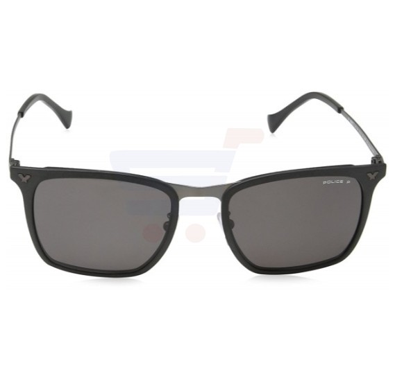 Police Round Black Frame & Black Mirrored Sunglasses For Men - SPL154-OU28P