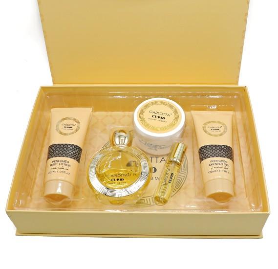 Carlotta Cupid Gift Set with Perfume, Shower Gel, Body Lotion, Lady Powder, 83366