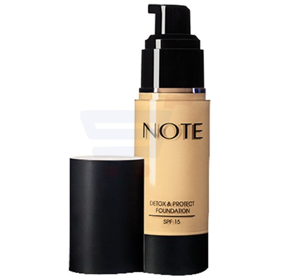 Note 03 Medium Beige Protect And Detox Foundation Pump
