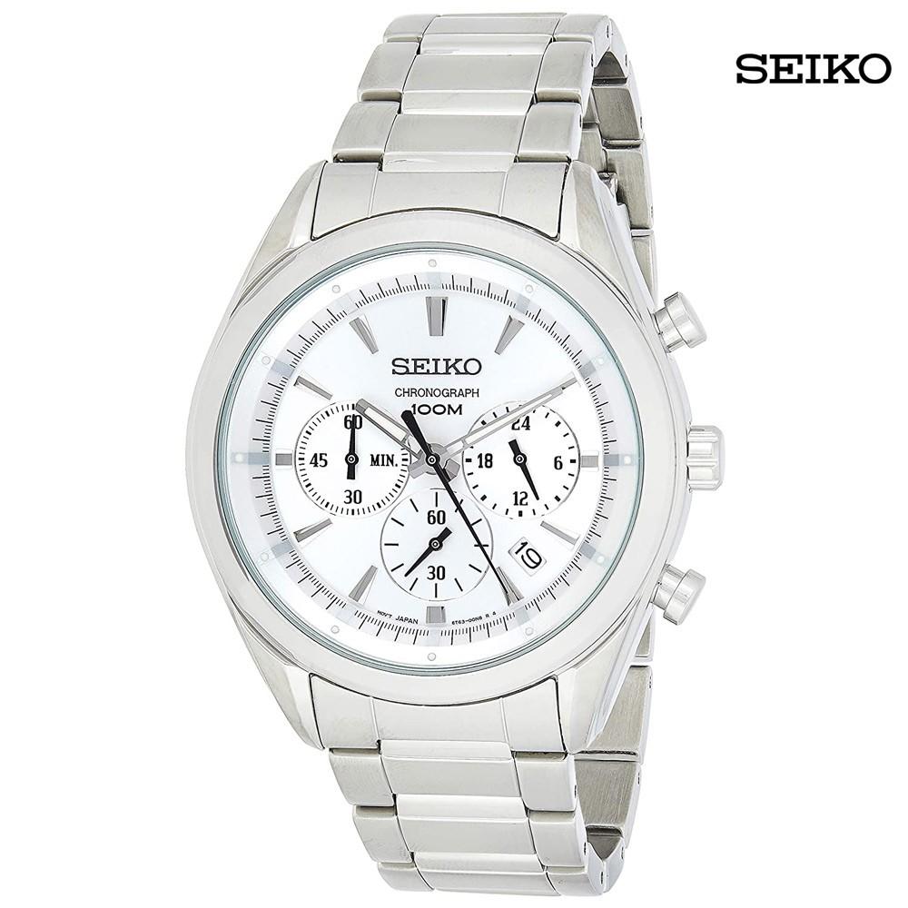 Seiko Men Analog Silver Dial Watch, SSB085P1