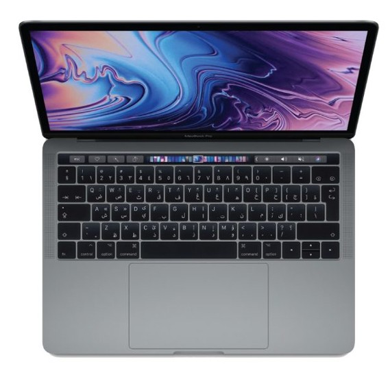 MacBook Pro 13 Touch Bar & Touch ID 2018 – Core i5 2.3GHz 8GB 512GB Shared 13.3inch Space Grey Arabic, MR9R2AB/A