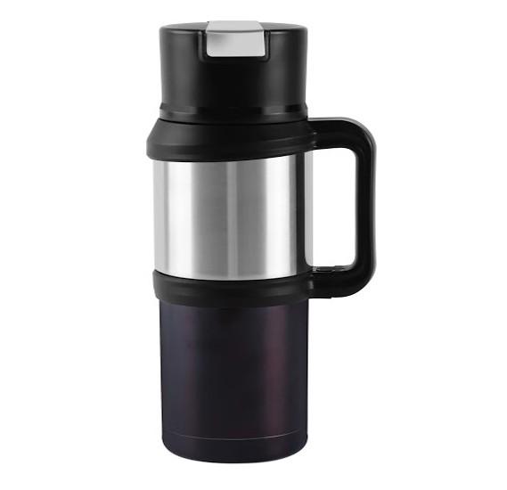 Royalford 1200ML SS Double Wall Thermos Flask, RFU9039_Black