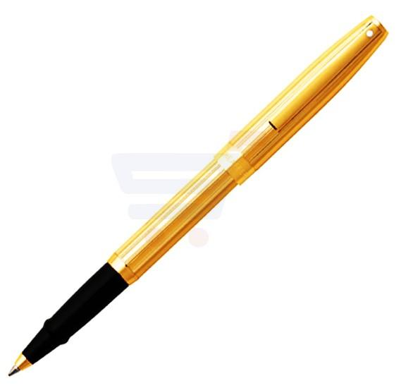 Sheaffer Sagaris Fluted Gold Tone Cap and Barrel Rollerball Pen