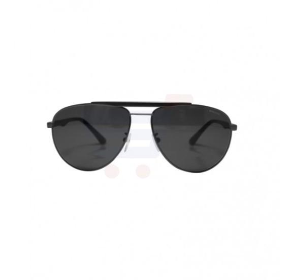 Police Aviator Dark Black Frame & Grey Gradient Mirrored Sunglasses For Men - SPL364-0627
