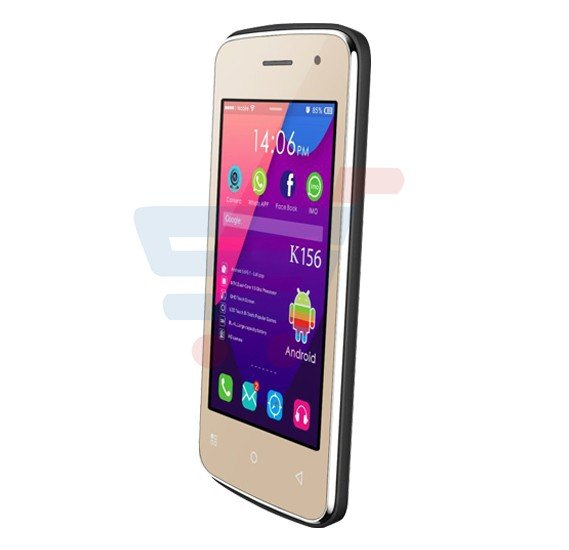 Kagoo K156 3G Smartphone, Android OS,4.0 Inch Display,Dual SIM,Dual Cmaera,1.2GHz Processor-Gold