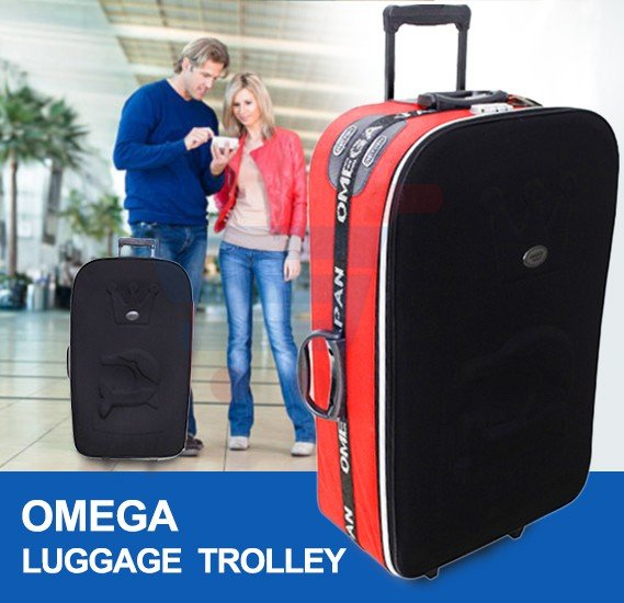 Omega Luggage Trolley Black