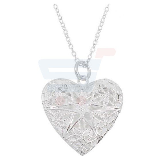 Love Heart Openable 925 Silver Jewelry Necklace