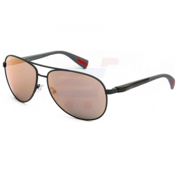 Prada Pilot Grey Rubber Frame & Grey Mirror Rose Gold Mirrored Sunglasses For Unisex - 0PS51OS TFZ2D2
