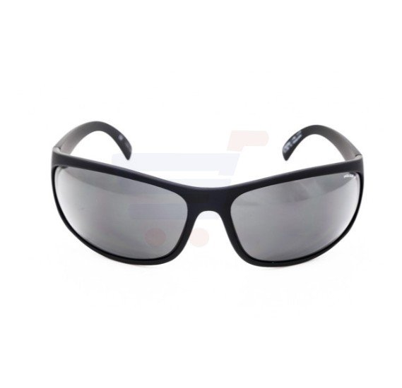 Police Rectangular Semi Matt Black Frame & Smoke Polarized Mirrored Sunglasses For Men - S1863-U28P