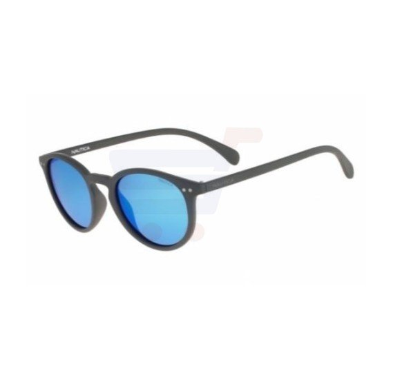 Nautica Round Grey Frame & Blue Mirrored Sunglasses For Unisex - N3612SP-014