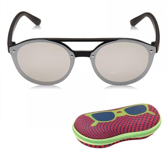TFL Eyewear Round Men Sunglasses, 25487-Silver
