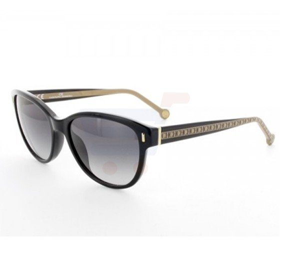 Carolina Herrera Wayfarer Black Frame & Black Gradient Mirrored Sunglasses For Women - SHE597-700X