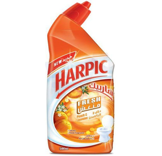 Harpic Fresh Peach and Jasmine Liquid Toilet Cleaner 500ml