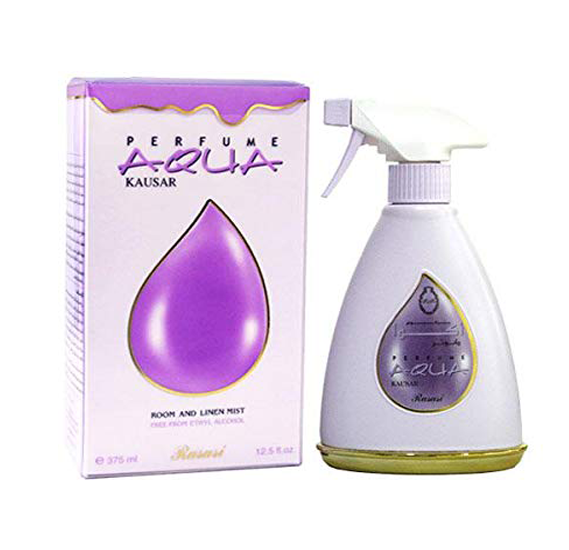 Perfume Aqua Kausar, Room and Linen Mist, Room Freshener by Rasasi, 375ml