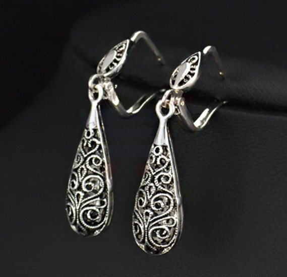Tiara Elements White Gold Plated Vintage Design Earrings - JE0196