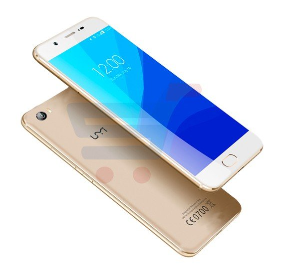 UMI C Smartphone, Android 6.0, 5.5 Inch HD Display, 2GB RAM, 16GB Storage, Dual SIM, Dual Camera, Quad Core 1.3GHz Processor- Gold