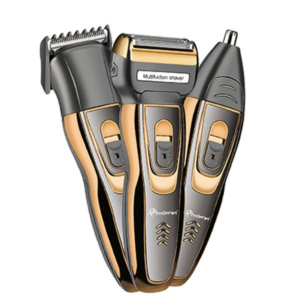 Progemei Waterproof 3 in 1 Hair Clipper and Trimmer -Assorted