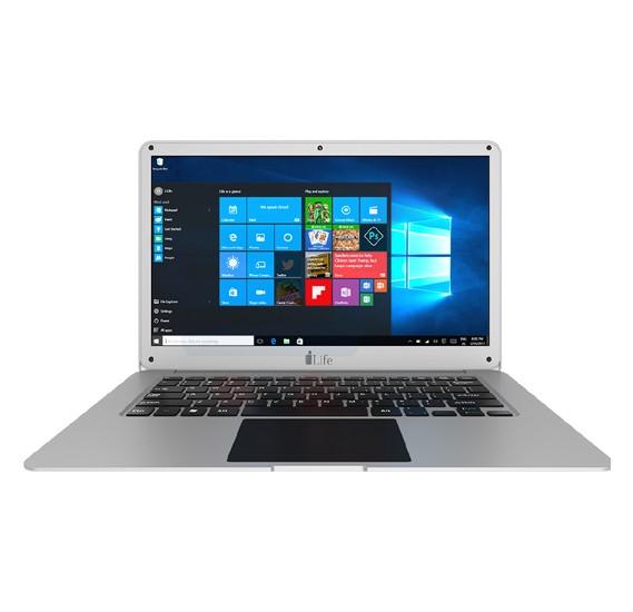 i-life Zed air H2F NoteBook, 14 Inch Display, Intel Celeron, 3 GB RAM, 32 GB eMMC, 500 GB HDD, French Keyboard, Windows 10 - Silver