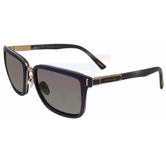 Chopard Square Green Frame & Green Colour Mirrored Sunglass For Men - SCHB84-6XKP