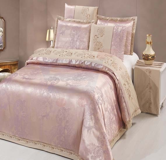 Senoures 100% Cotton Jacquard Quilt Cover 6Pcs Set King - SEJ-044