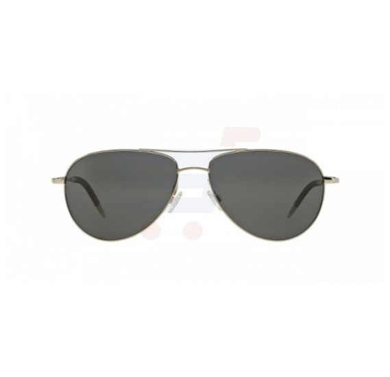 Oliver Peoples Aviator Silver Frame & Black Mirrored Sunglasses For Unisex - 1002S-5036K8