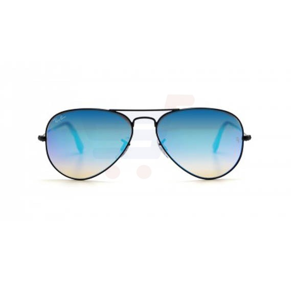 Buy Ray-Ban Pilot Black Frame & Blue Gradient Flash Mirrored ...